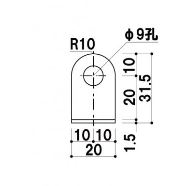タペストリーバーF15用 吊具_A